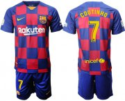 Wholesale Cheap Barcelona #7 Coutinho Home Soccer Club Jersey