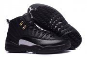 Wholesale Cheap Air Jordan 12 The Master Size 9 Black/Rattan-White-Metallic Gold