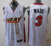 Wholesale Cheap Miami Heat #3 Dwyane Wade White The Finals Commemorative Jersey