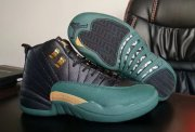 Wholesale Cheap Air Jordan 12 Retro Shoes Black Green Gold