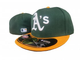 Wholesale Cheap Oakland Athletics fitted hats 08