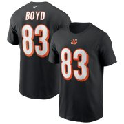 Wholesale Cheap Cincinnati Bengals #83 Tyler Boyd Nike Team Player Name & Number T-Shirt Black