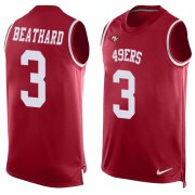 Wholesale Cheap Nike 49ers #3 C.J. Beathard Red Team Color Men's Stitched NFL Limited Tank Top Jersey