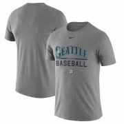 Wholesale Cheap Seattle Mariners Nike Away Practice T-Shirt Heathered Gray