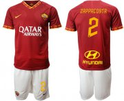 Wholesale Cheap Roma #2 Zappacosta Red Home Soccer Club Jersey