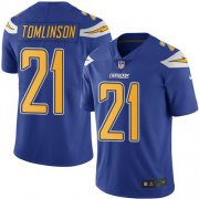 Wholesale Cheap Nike Chargers #21 LaDainian Tomlinson Electric Blue Men's Stitched NFL Limited Rush Jersey