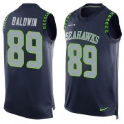 Wholesale Cheap Nike Seahawks #89 Doug Baldwin Steel Blue Team Color Men's Stitched NFL Limited Tank Top Jersey