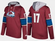 Wholesale Cheap Avalanche #17 Tyson Jost Burgundy Name And Number Hoodie