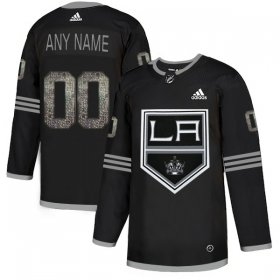 Wholesale Cheap Men\'s Adidas Kings Personalized Authentic Black Classic NHL Jersey