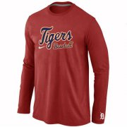 Wholesale Cheap Detroit Tigers Long Sleeve MLB T-Shirt Red