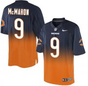 Wholesale Cheap Nike Bears #9 Jim McMahon Navy Blue/Orange Men's Stitched NFL Elite Fadeaway Fashion Jersey