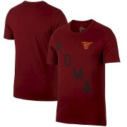 Wholesale Cheap AS Roma Nike Squad T-Shirt Red