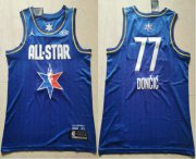 Wholesale Cheap Men's Dallas Mavericks #77 Luka Doncic Blue Jordan Brand 2020 All-Star Game Swingman Stitched NBA Jersey