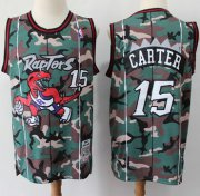 Wholesale Cheap Raptors #15 Vince Carter Camo Basketball Swingman Jersey