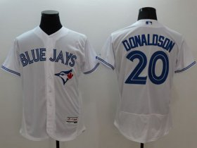 Wholesale Cheap Blue Jays #20 Josh Donaldson White Flexbase Authentic Collection Stitched MLB Jersey