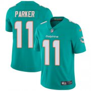 Wholesale Cheap Nike Dolphins #11 DeVante Parker Aqua Green Team Color Men's Stitched NFL Vapor Untouchable Limited Jersey