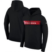 Wholesale Cheap Men's Atlanta Falcons Nike Black Sideline Team Performance Pullover Hoodie