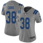 Wholesale Cheap Nike Colts #38 T.J. Carrie Gray Women's Stitched NFL Limited Inverted Legend Jersey