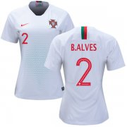 Wholesale Cheap Women's Portugal #2 Bruno Alves Away Soccer Country Jersey