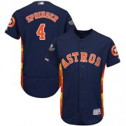 Wholesale Cheap Astros #4 George Springer Navy Blue Flexbase Authentic Collection 2019 World Series Bound Stitched MLB Jersey