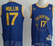 Wholesale Cheap Golden State Warriors #17 Chris Mullin Blue Swingman Throwback Jersey