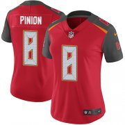 Wholesale Cheap Nike Buccaneers #8 Bradley Pinion Red Team Color Women's Stitched NFL Vapor Untouchable Limited Jersey
