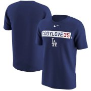 Wholesale Cheap Los Angeles Dodgers #35 Cody Bellinger Nike Legend Player Nickname Name & Number T-Shirt Royal