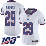 Wholesale Cheap Nike Giants #29 Xavier McKinney White Women's Stitched NFL Limited Rush 100th Season Jersey