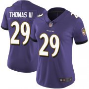 Wholesale Cheap Nike Ravens #29 Earl Thomas III Purple Team Color Women's Stitched NFL Vapor Untouchable Limited Jersey