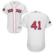 Wholesale Cheap Red Sox #41 Chris Sale White Flexbase Authentic Collection 2018 World Series Champions Stitched MLB Jersey