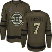 Wholesale Cheap Adidas Bruins #7 Phil Esposito Green Salute to Service Stanley Cup Final Bound Stitched NHL Jersey