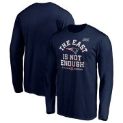 Wholesale Cheap New England Patriots NFL 2019 AFC East Division Champions Cover Two Long Sleeve T-Shirt Navy