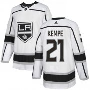 Wholesale Cheap Adidas Kings #21 Mario Kempe White Road Authentic Stitched NHL Jersey