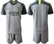 Wholesale Cheap Boca Juniors Blank Grey Goalkeeper Soccer Club Jersey