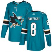 Wholesale Cheap Adidas Sharks #8 Joe Pavelski Teal Home Authentic Stitched Youth NHL Jersey