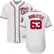 Wholesale Cheap Nationals #63 Sean Doolittle White Flexbase Authentic Collection Stitched MLB Jersey