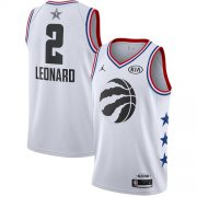 Wholesale Cheap Raptors #2 Kawhi Leonard White Basketball Jordan Swingman 2019 All-Star Game Jersey
