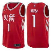 Wholesale Cheap Houston Rockets #1 Trevor Ariza Red Nike NBA Men's Stitched Swingman Jersey City Edition