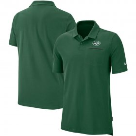 Wholesale Cheap New York Jets Nike Sideline Elite Performance Polo Green