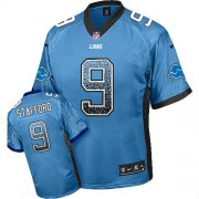 Wholesale Cheap Nike Lions #9 Matthew Stafford Light Blue Team Color Youth Stitched NFL Elite Drift Fashion Jersey