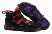 Wholesale Cheap Nike Lebron James Soldier 11 Shoes Black Red Purple