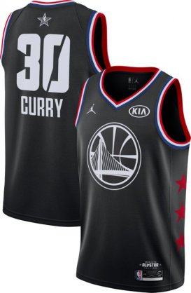 Wholesale Cheap Jordan Men\'s 2019 NBA All-Star Game #30 Steph Curry Black Dri-FIT Swingman Jersey