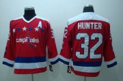 Wholesale Cheap Capitals #32 Hunter Stitched CCM Throwback Red NHL Jersey