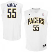 Wholesale Cheap Indiana Pacers 55 Roy Hibbert White Fashion Replica Jersey