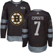 Wholesale Cheap Adidas Bruins #7 Phil Esposito Black 1917-2017 100th Anniversary Stitched NHL Jersey