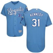 Wholesale Cheap Royals #31 Ian Kennedy Light Blue Flexbase Authentic Collection Stitched MLB Jersey