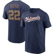 Wholesale Cheap Washington Nationals #22 Juan Soto Nike 2020 Gold Program Name & Number T-Shirt Navy