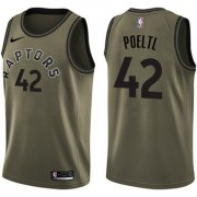 Wholesale Cheap Nike Toronto Raptors #42 Jakob Poeltl Green Salute to Service NBA Swingman Jersey