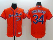 Wholesale Cheap Mets #34 Noah Syndergaard Orange Flexbase Authentic Collection Los Mets Stitched MLB Jersey