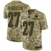 Wholesale Cheap Nike Rams #27 Darrell Henderson Camo Men's Stitched NFL Limited 2018 Salute To Service Jersey